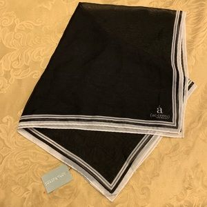 NWT Lane Bryant Black and White Scarf Polyester